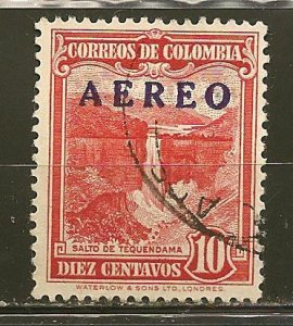 Colombia 570 AEREO Airmail Overprint Used