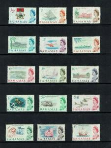 Bahamas: 1965 Definitive set, pre-decimal, Mint lightly hinged