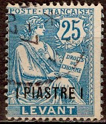 France - Offices in Turkey; 1903: Sc. # 34: O/Used Single Stamp