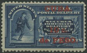 US ADMIN DURING SPANISH AMERICAN WAR #E1 VF OG LH CV $130 BR9745