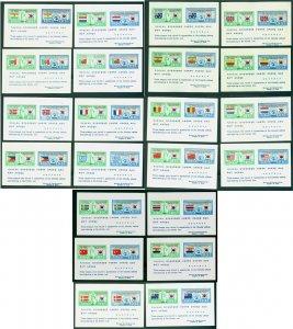 South KOREA 1951  Korean War - FLAGS - BLOCK S/S  set of 22 ( Both ITALY ) MNH**