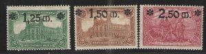 Germany - Weimar Era 1920 Sc# 115-117 MH VG   Surcharged issues