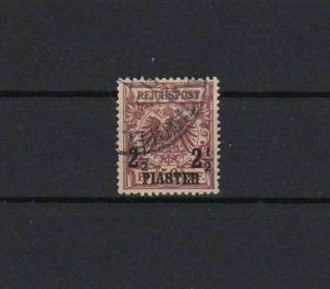 GERMAN P.O `s  IN TURKEY USED STAMP 2½pi ON 50pf LAKE  1889 CAT £170  REF 6750