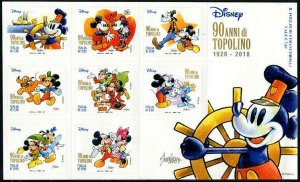 HERRICKSTAMP NEW ISSUES ITALY Disney Mickey Mouse Self-Adhesive S/S