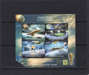 Chad 2011 Concorde 40th.Anniv/World Cup Football/Halley's Comet MAJOR ERROR !!!