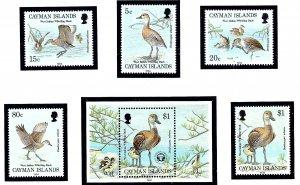 Cayman Is 681-85 MNH 1994 Ducks