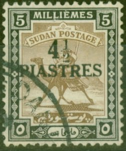 Sudan 1941 4 1/2p on 5m Olive-Brown & Black SG79 Fine Used (3)