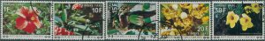 Comoro Islands postage due 1977 SGD244-D250 Flowers FU