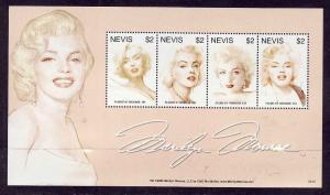 Nevis-Sc#1493-unused NH sheet-Marilyn Monroe-2007-