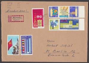 EAST GERMANY 1970 Registered cover - great franking.........................B373