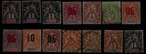 Dahomey 14 used/mint values pre-1915