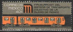 MEXICO 1005, Inauguration of Mexico City Subway. Used.-VF. (174)