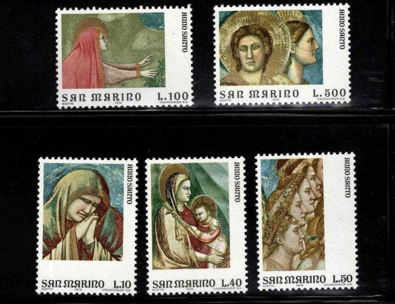 San Marino Scott 860-864 MNH** 1975 set