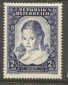 AUSTRIA 583 HINGED, SCHOOL GIRL