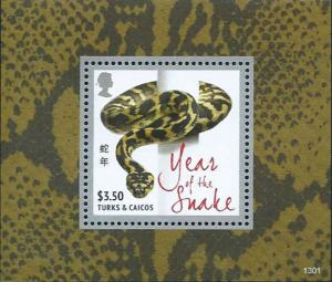 Turks & Caicos - Year of the Snake - Souvenir Stamp Sheet - TAC1301S