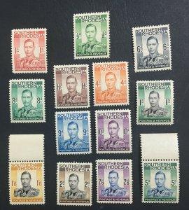 MOMEN: SOUTHERN RHODESIA STAMPS SG #40-52 1937 MINT OG NH £90+++ LOT #61429