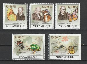 Mozambique MNH William Kirby Butterflies & Insects 2009