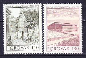 Faroe Islands  39-40 MNH 1978 Library