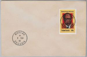 39803  ST LUCIA -  POSTAL HISTORY - COVER with nice postmark:  MOREAU 1981