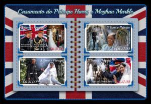 SAO TOME - 2018 - The Royal Wedding - Perf 4v Sheet - MNH