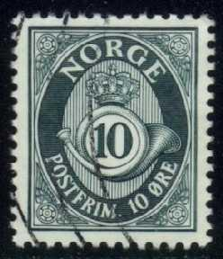 Norway #417 Post Horn, used (0.25)