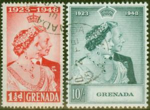 Grenada 1948 RSW set of 2 SG166-167 Superb Used