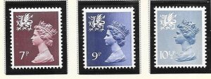 Great Britain-Wales & Monmouthshire # WMMH8,12,14 (MNH) $1.05
