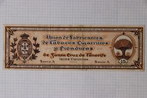 Canary Islands Santa Cruz Tenerife Tobacco Picaduras Guarantee stamp Revenue DL