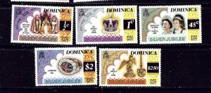 Dominica 521-25 MLH 1977 QEII Silver Jubilee