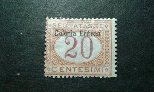 Eritrea #J3 mint hinged e205 9489
