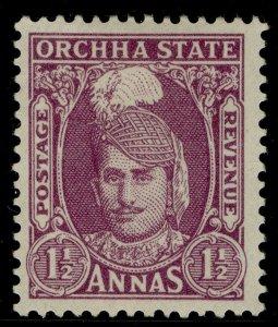 INDIAN STATES - Orchha GVI SG36, 1½a mauve, M MINT.