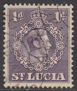 St. Lucia 111 Used CV $0.25