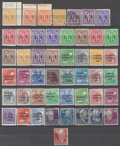 COLLECTION LOT # 5369 GERMANY OCCUPIED 48 STAMPS 1945+ CLEARANCE