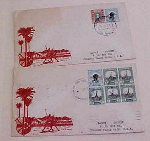SUDAN CAMEL MAIL 1952 KHTM OB NO2 BACKSTAMP PORTSAID HALIM KHARTOUM TO USA