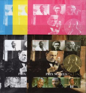 Chad 2012 Nobel Prize/GANDHI/Einstein/M.Luther King 5 Color Proofs IMPERF.MNH