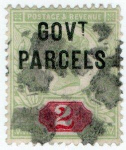 (I.B) QV Postal : Government Parcels 2d (SG 070)