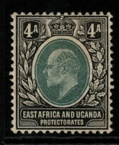 KENYA, UGANDA & TANGANYIKA SG23 1904 4a GREY-GREEN & BLACK MTD MINT