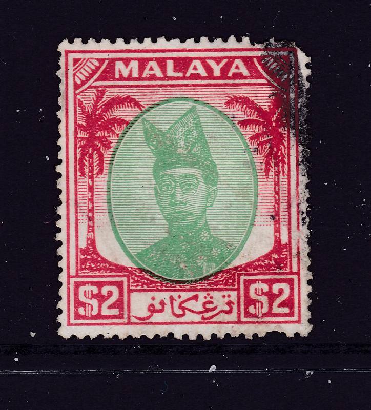 Trengganu a used $2 from  1949