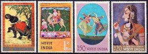 India. 1973. 561-4. Painting. MVLH.