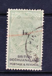 BRITISH BECHUANALAND  1888  1/- on 1/-  QV  FU SG 28