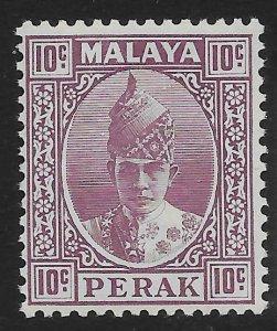 MALAYA PERAK SG112 1938 10c DULL PURPLE MTD MINT