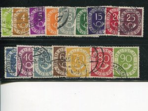 Germany  #670-85  Used F-VF  - Lakeshore Philatelics