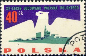 POLAND / POLEN - 1963 Mi.1426 40gr 20yrs People's Army - VF Used (a)