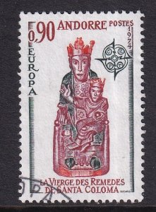 Andorra French    #233  used  1974  Europa  90c