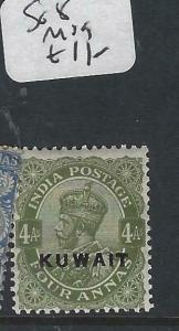 KUWAIT   (PP2704B) ON  INDIA KGV   4A     SG 8   MOG