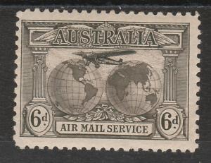 AUSTRALIA 1931 AIRMAIL 6D