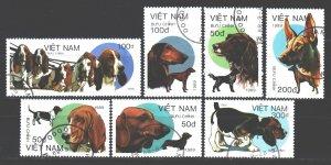 Vietnam. 1989. 2073-79. Dogs. USED.