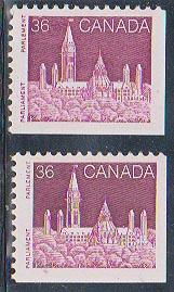 Canada USC #948&948i Mint VF-NH Cat. $4.25 1987 36c Dark Lilac Rose (2)