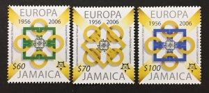 Jamaica 2005 #1013-5, Europa 50th Anniversary, MNH.
