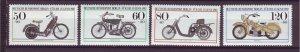 J24977 JLstamps 1983 germany berlin set mnh #9nb198-201 motorcycles
